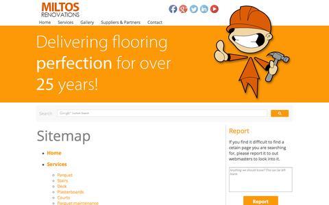 Screenshot of Site Map Page miltosren.com - Sitemap | Miltos Renovations LTD - captured Oct. 7, 2014