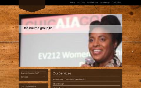 Screenshot of Services Page thebournegroup.com - the bourne group,llc - Services - captured Jan. 11, 2016