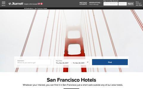 Top Hotels in San Francisco | Marriott San Francisco Hotels