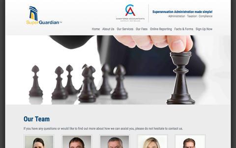 Screenshot of Team Page superguardian.com.au - Our Team | SuperGuardian - captured Nov. 5, 2017