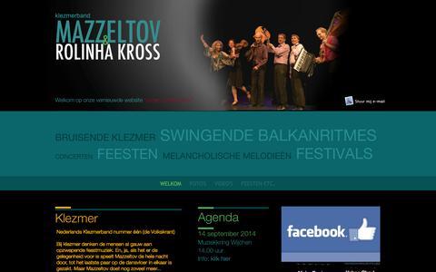 Screenshot of Home Page mazzeltov.nl captured Sept. 30, 2014