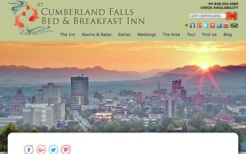 Screenshot of Contact Page Maps & Directions Page cumberlandfalls.com - Bed and Breakfast Lodging in Downtown Asheville - captured April 24, 2017