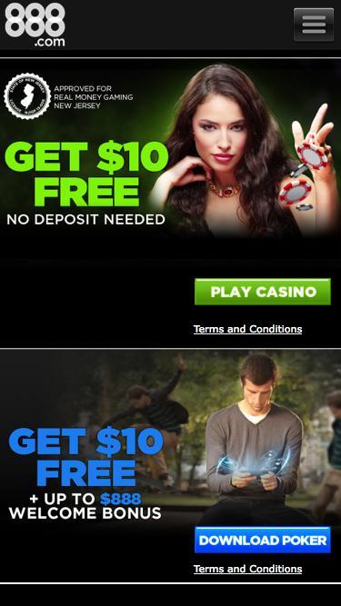 Screenshot of Home Page  888.com - Online Casino & Online Poker Room - 888.com