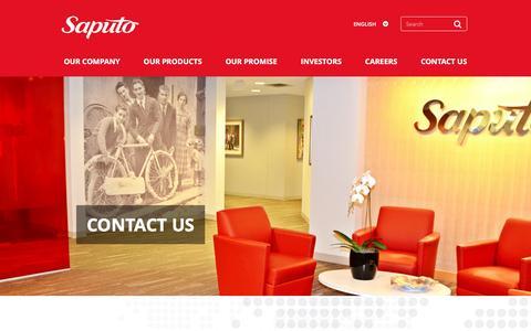 Screenshot of Contact Page saputo.com - Contact Saputo | Saputo - captured April 1, 2017