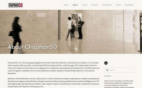 Screenshot of About Page chapman50.org - About Chapman50 — Chapman50 - captured Sept. 29, 2014