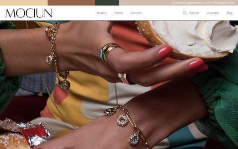 Screenshot of Home Page mociun.com - MOCIUN Jewelry + Home Goods - captured Nov. 5, 2018