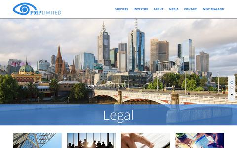 Screenshot of Terms Page ipmg.com.au - PMP Limited - Legal - captured July 27, 2018