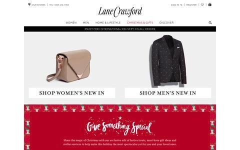 Screenshot of Home Page lanecrawford.com - Lane Crawford : Online Fashion Shop, Luxury Designer Clothes - captured Dec. 2, 2015