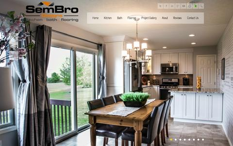 Screenshot of Home Page sembrodesigns.com - Columbus Ohio | Kitchen Bath & Flooring | Remodeling - captured Aug. 2, 2015