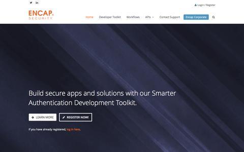 Screenshot of Developers Page encapsecurity.com - Developer - Encap Security - captured Dec. 4, 2015