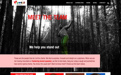 Screenshot of Team Page pamojamedia.com - People | Pamoja Media | African Internet marketing agency | African brands | advertising in Africa - captured Dec. 7, 2015