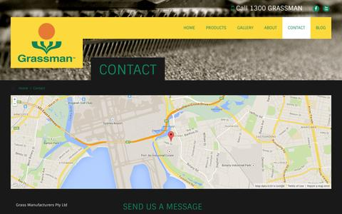 Screenshot of Contact Page grassman.com.au - Contact Us For Synthetic Turf, Grass and Other Details - captured Oct. 3, 2014