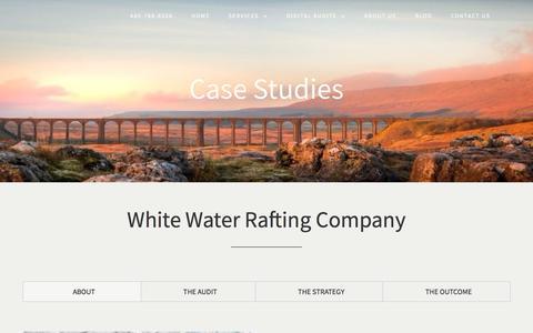 Screenshot of Case Studies Page seoessentialsolutions.com - Digital Marketing Case Studies | Adventure Travel - captured July 25, 2018
