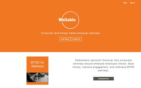 Screenshot of Home Page wellable.co - Wellable - captured Oct. 7, 2014