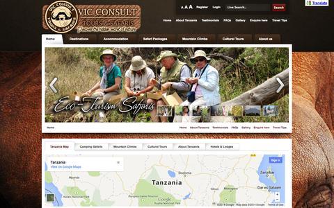 Screenshot of Testimonials Page vicconsultsafaris.com - Tanzania Safari with VIC CONSULT TOURS & SAFARIS - captured Oct. 7, 2014