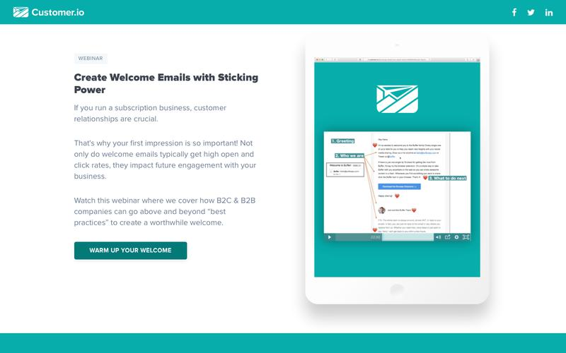 Great Welcome Email Copy Examples | Customer.io