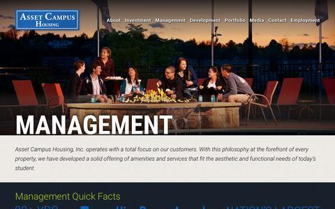 Screenshot of Team Page assetcampushousing.com - Management | Asset Campus Housing - captured Dec. 26, 2015