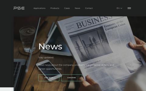 Screenshot of Press Page psc.dk - News - captured Sept. 26, 2018