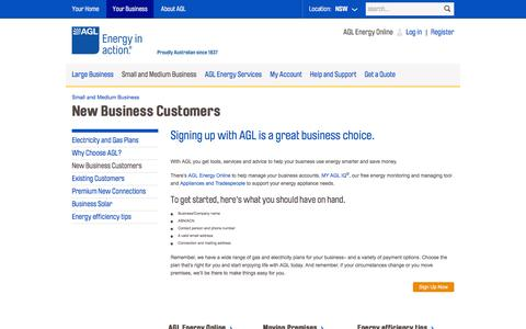 AGL - New Business Customers