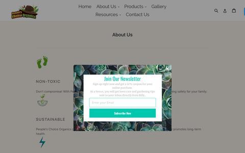 Screenshot of About Page peopleschoiceorganics.com - About Us                      – People's Choice Organics - captured April 1, 2018