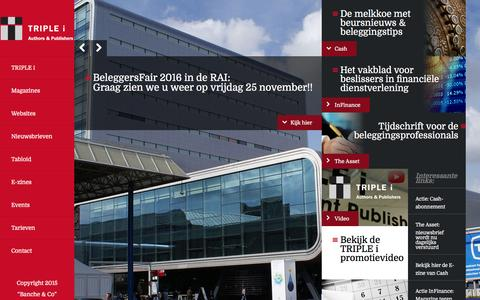 Screenshot of Home Page triplei.nl - Triple I / Home - captured Feb. 25, 2016