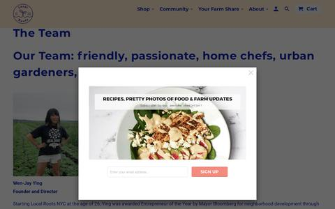 Screenshot of Team Page localrootsnyc.com - The Team - Local Roots NYC - captured Oct. 22, 2018