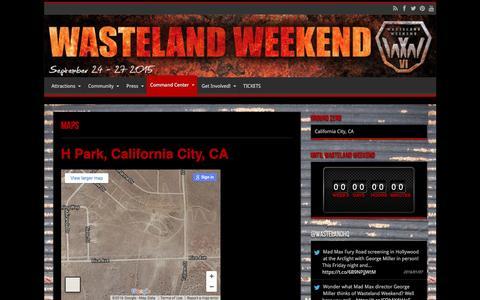 Screenshot of Maps & Directions Page wastelandweekend.com - MAPS   Wasteland Weekend - captured Jan. 10, 2016