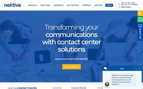 Screenshot of Pricing Page nextiva.com - Call Center Pricing & Plans - Nextiva - captured July 10, 2018