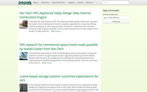Screenshot of Case Studies Page nor-tech.com - case studies | Nor-Tech - Innovative HPC Solutions - captured Sept. 30, 2014