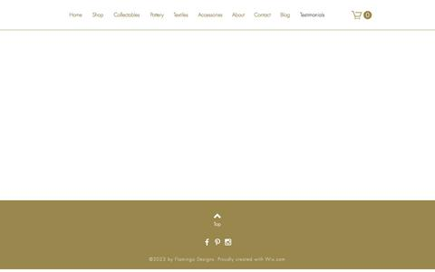 Screenshot of Testimonials Page kooldecor.com - koolDecor specializes in home decoration products from Ethiopia | Testimonials - captured June 9, 2017