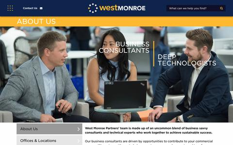 Screenshot of About Page westmonroepartners.com - West Monroe Partners | About Us - captured Jan. 18, 2018