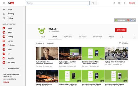mySugr - YouTube