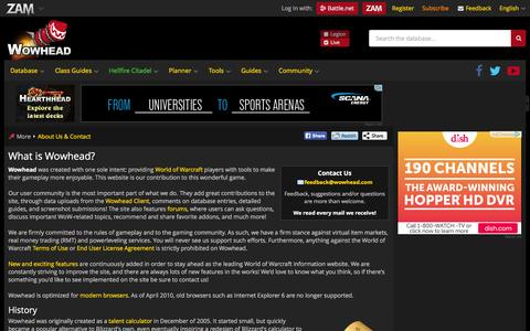 Screenshot of About Page wowhead.com - What is Wowhead? - Wowhead - captured Dec. 2, 2015