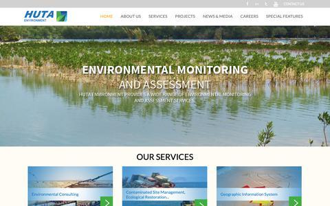Screenshot of Home Page hutaenv.com - HUTA Environment Jeddah, Saudi Arabia - captured Nov. 11, 2018