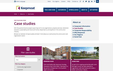 Screenshot of Case Studies Page keepmoat.com - case studies | Keepmoat - captured Nov. 23, 2016