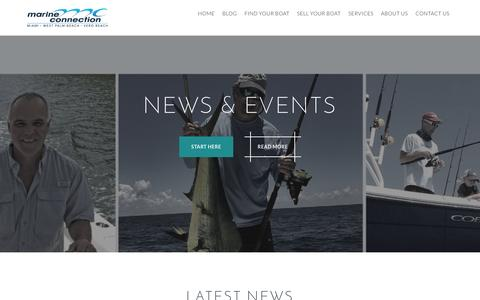 Screenshot of Press Page marineconnection.com - Marine Connection | News & Events - captured Nov. 9, 2015