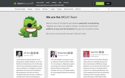 Screenshot of Team Page mojomarketplace.com - Get to know the MOJO Marketplace Team! - captured July 4, 2016
