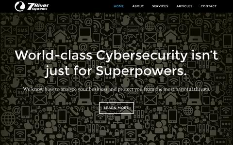 Screenshot of Home Page etnacom.net - 7 River Systems – Cyber Security and Resilience - captured July 24, 2015