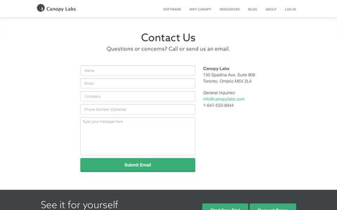Contact Us | Canopy Labs
