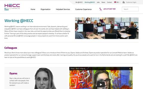 Screenshot of Team Page hecc.com - Working @HECC | HECC Alliance - captured May 14, 2016