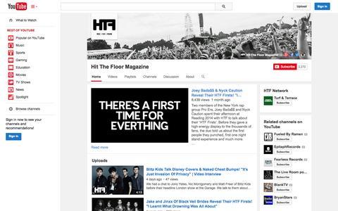Screenshot of YouTube Page youtube.com - Hit The Floor Magazine  - YouTube - captured Oct. 22, 2014