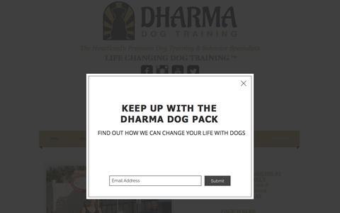 Screenshot of Contact Page dharmadogtraining.com - Dharma Dog Training Contact Us - captured Aug. 6, 2018
