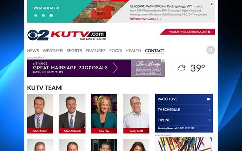 Screenshot of Team Page kutv.com - Salt Lake City People | News, Weather, Sports, Breaking News | KUTV - captured Nov. 25, 2015