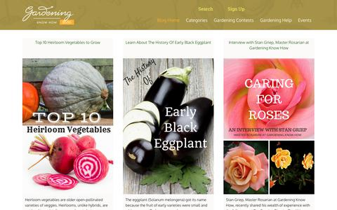 Screenshot of Blog gardeningknowhow.com - Gardening Know How's Blog - Gardening Made Happy! - captured May 21, 2018