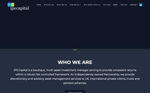 Screenshot of Home Page ipscap.com - Boutique, multi-asset investment managment - IPS Capital - captured Dec. 17, 2018
