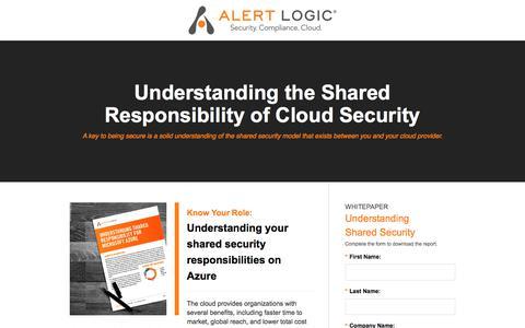 Screenshot of Landing Page alertlogic.com - Alert Logic - captured Nov. 9, 2017