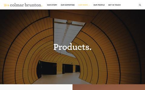 Screenshot of Products Page colmarbrunton.com.au - Our Work | Product - Colmar Brunton - captured Oct. 21, 2018
