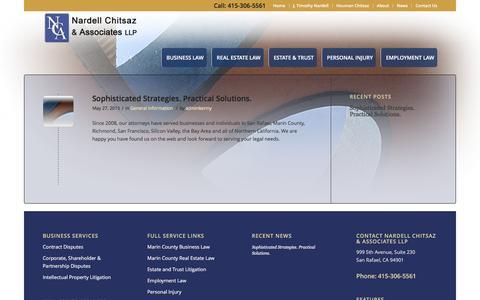 Screenshot of Press Page ncalegal.com - News - NCA Legal - captured Feb. 16, 2016