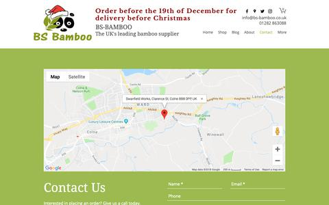 Screenshot of Contact Page bs-bamboo.co.uk - Contact | BS Bamboo - captured Nov. 29, 2018