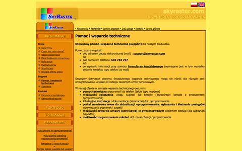 Screenshot of Support Page skyraster.com - SkyRaster  :: Pomoc i wsparcie techniczne - captured Oct. 26, 2014